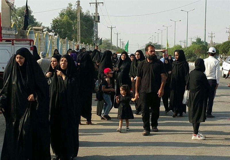 چتر امنیتی پلیس کرمانشاه در تمامی موکبهای اربعین