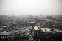 کیفیت هوای تهران در 8 مهر 98 ناسالم است