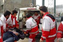 امدادرسانی به مصدومان اتوبوس در محور سیرجان_حاجی آباد