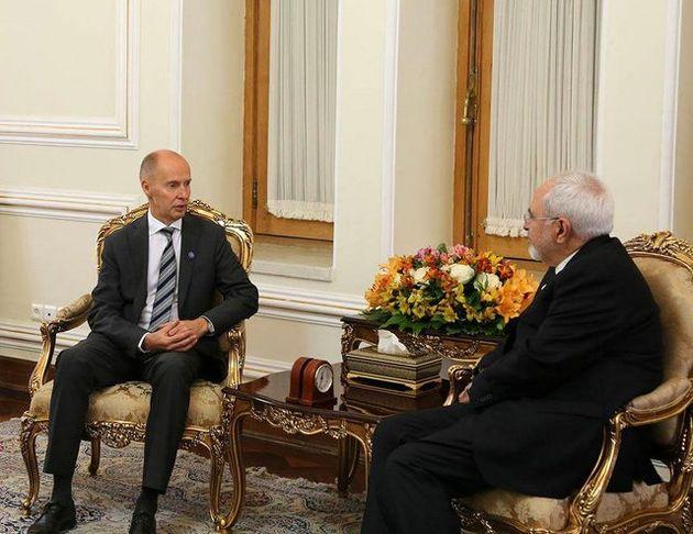 دیدار خداحافظی سفیر فنلاند در تهران با ظریف