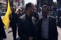 معاون پارلمانی رئیس جمهور در راهپیمایی روز قدس حضور یافت