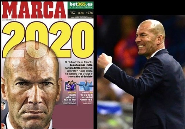رئال مادرید به دنبال تمدید قرارداد زیدان تا ۲۰۲۰