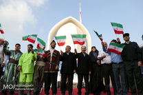 مراسم برافراشتن بزرگترین پرچم جمهوری اسلامی ایران