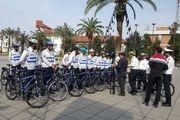 اجرای طرح  پلیس دوچرخه سوار در رشت