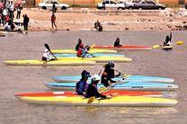 رقابت دختران قایقران هرمزگانی در مسابقات انتخابی تیم ملی