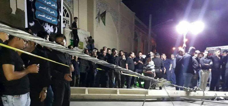 یک کشته و دو مصدوم بر اثر سقوط تیر برق بر روی هیات عزاداری در لار