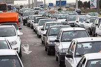 ترافیک شدید در اتوبان تهران قم