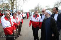 رییس جمهور: هلال احمر؛ چشم امید و پشتوانه مردم در سختی ها و بحران هاست