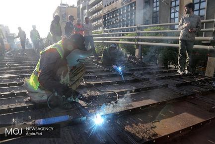 بازدید نجفی از پروژه مقاومسازی پل کریمخان