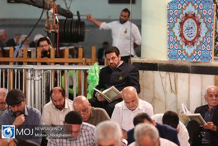 جزء خوانی قرآن کریم در حرم شاه عبدالعظیم (ع)