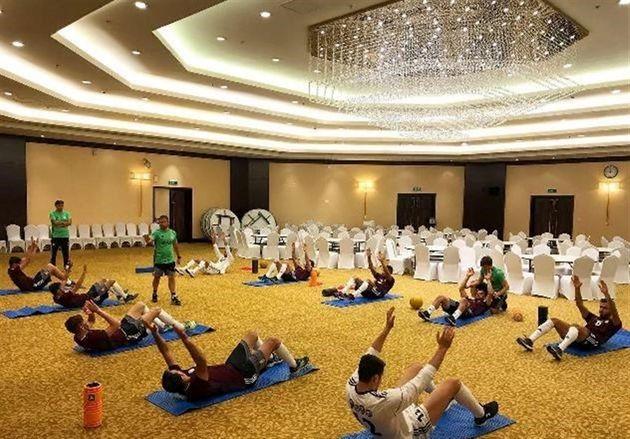 تمرین شاگردان کیروش در هتل
