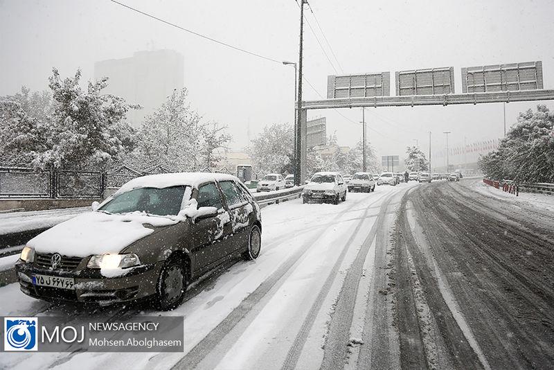 اخطاریه هواشناسی در خصوص یخبندان و لغزندگی جاده ها در پی بارش برف