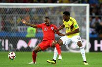 نتیجه بازی کلمبیا و انگلیس در جام جهانی/ انگلیس به مرحله یک چهارم نهایی صعود کرد