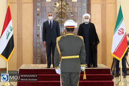 استقبال رسمی رییس جمهوری از نخست وزیر عراق