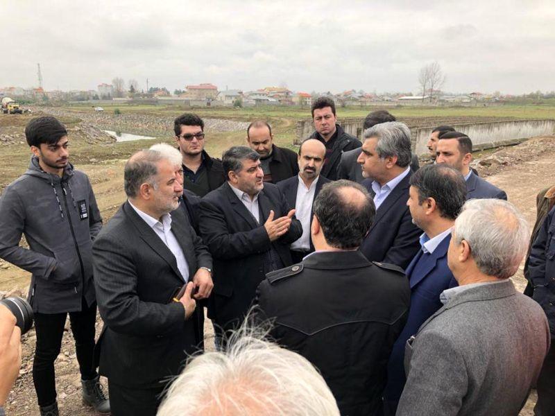 بازدید استاندار گیلان از پروژه کنارگذر مرجقل شهرستان صومعه سرا
