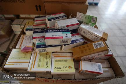 بارگیری و ارسال تجهیزات دارویی و درمانی اربعین 97