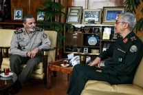 دیدار و گفتگوی سرلشکر باقری با فرمانده کل ارتش