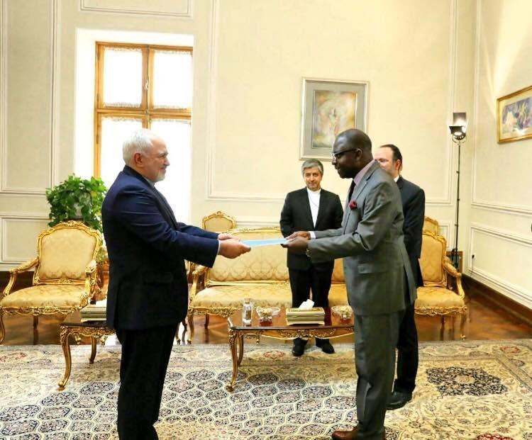 سفیر جدید مالی استوارنامه خود را تقدیم ظریف کرد