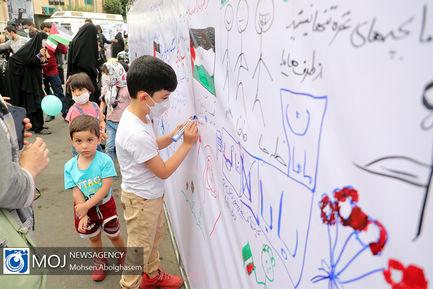 اجتماع کودکان و نوجوانان به نشان همدلی با کودکان غزه