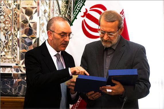 قدردانی لاریجانی از ابزار همدردی و کمک مجلس سنای ایتالیا به مردم سیل زده ایران