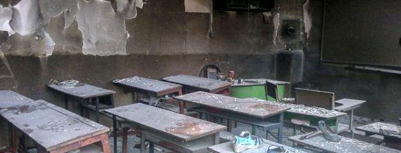 یک دبیرستان دخترانه در بلوار لاکان رشت طعمه حریق شد