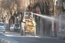 ضدعفونی کردن معابر عمومی به صورت مستمر در اصفهان