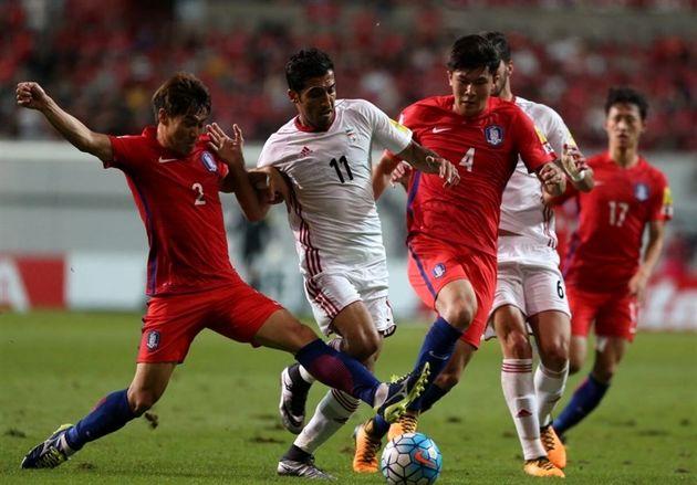 تساوی بدون گل ایران و کره جنوبی در نیمه اول