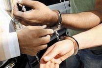 سارق سیم های برق خمینی شهر دستگیر شد