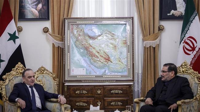 دیدار و رایزنی نخست وزیر سوریه با دریادار شمخانی