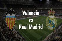 پخش زنده بازی والنسیا و رئال مادرید از شبکه سه سیما
