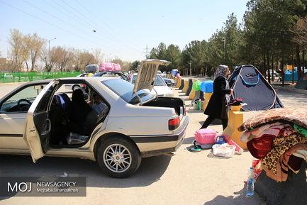 مهمانان نوروزی باغ فدک اصفهان