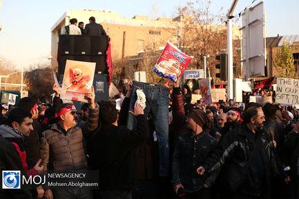 تجمع اعتراضی مردم مقابل سفارت انگلیس