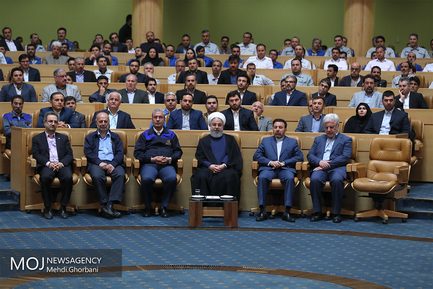 مراسم هفته کارگر با حضور رییس جمهوری