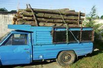 ۳ و نیم تن چوب جنگلی قاچاق در چنگال پلیس قائم شهر
