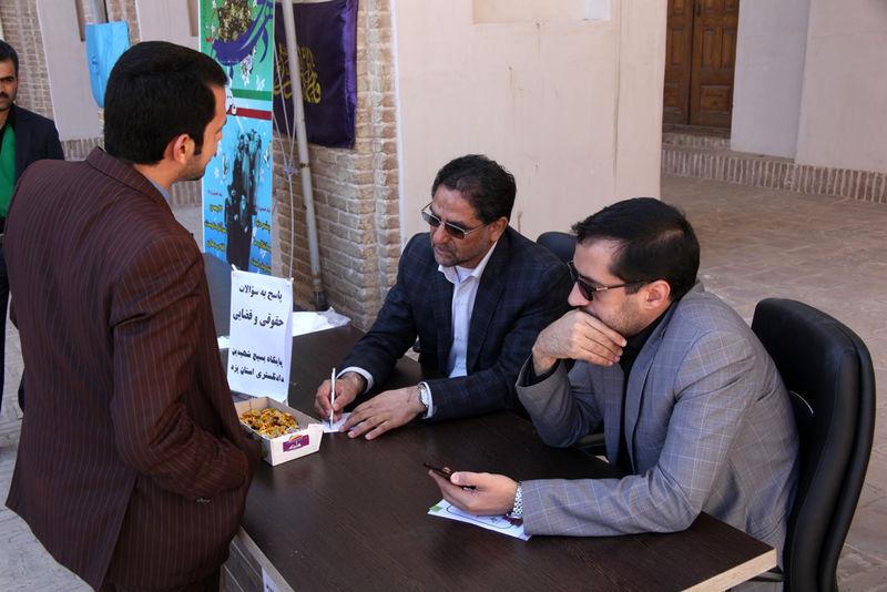 پاسخگویی قضات دادگستری به سوالات حقوقی و قضایی در نماز جمعه یزد