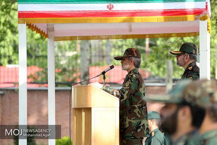 اعطای درجه توسط وزیر دفاع