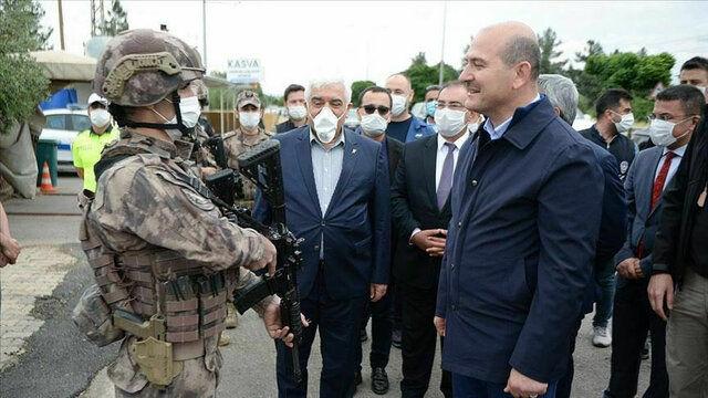 ورود وزیر کشور ترکیه به خاک سوریه برای اولین بار