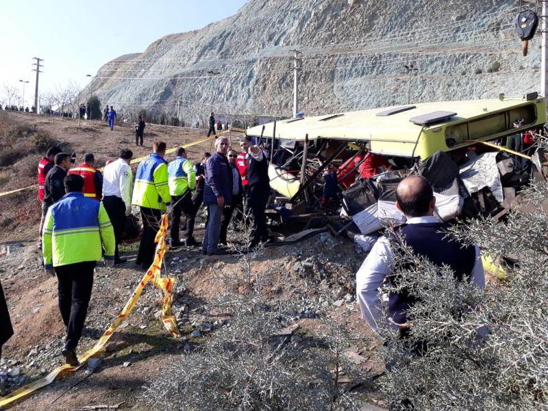 هویت نهمین قربانی حادثه واژگونی اتوبوس در دانشگاه آزاد اعلام شد