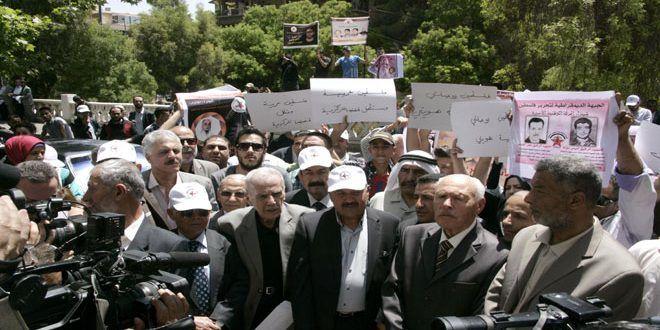 حمایت و همبستگی سازمان های مردم نهاد سوریه با اسرای فلسطینی