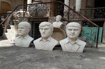 نصب المان شهدای 28 دی و سردیس برادران شهید شبلی در سنندج