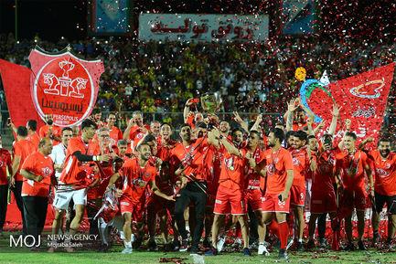جشن قهرمانی پرسپولیس در هجدهمین دوره لیگ برتر فوتبال