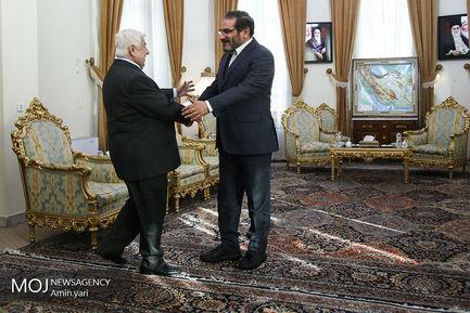 دیدار وزیر خارجه سوریه با شمخانی