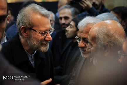 مراسم ختم محمدنبی حبیبی/علی لاریجانی رییس مجلس