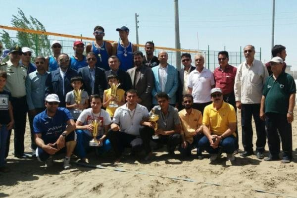 تیم بسیج الف قهرمان مسابقات والیبال ساحلی نیروهای مسلح کشور شد
