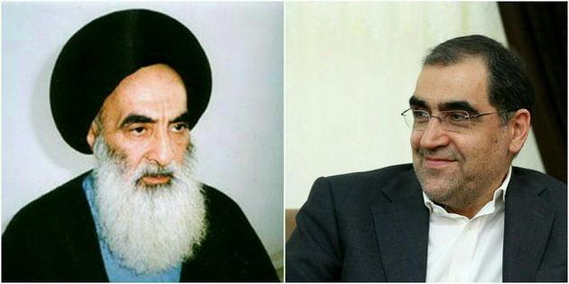 وزیر بهداشت با آیت الله سیستانی در نجف دیدار کرد