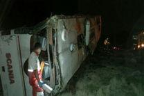 سقوط اتوبوس در دره محور یاسوج دو کشته و 9 مصدوم بر جای گذاشت