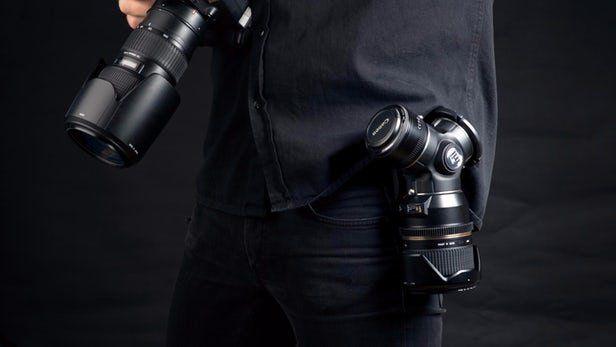 طراحی نگهدارنده همزمان چند لنز برای عکاسان حرفه ای