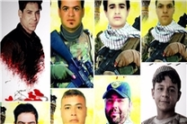تشییع پیکر 8 شهید مدافع حرم در عراق +عکس