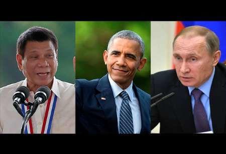 رئیس جمهور فیلیپین با اوباما و پوتین مذاکره می کند