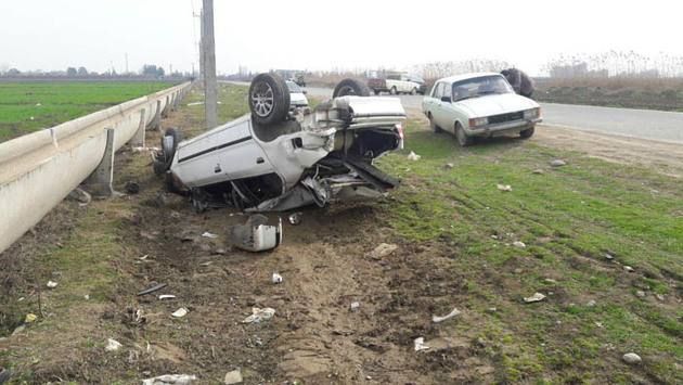 43 درصد مرگ و میر سوانح رانندگی در استان اصفهان  به علت واژگونی خودروست